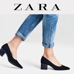 ZARA TRF Faux Seuss Block Heels.